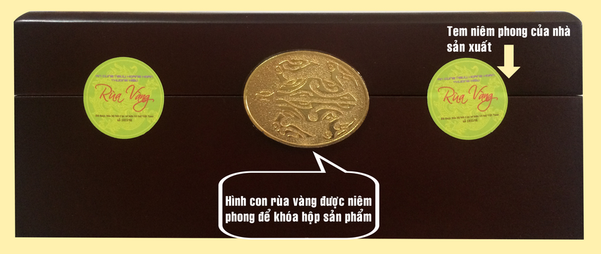 tem niêm phong hộp an cung rùa vàng