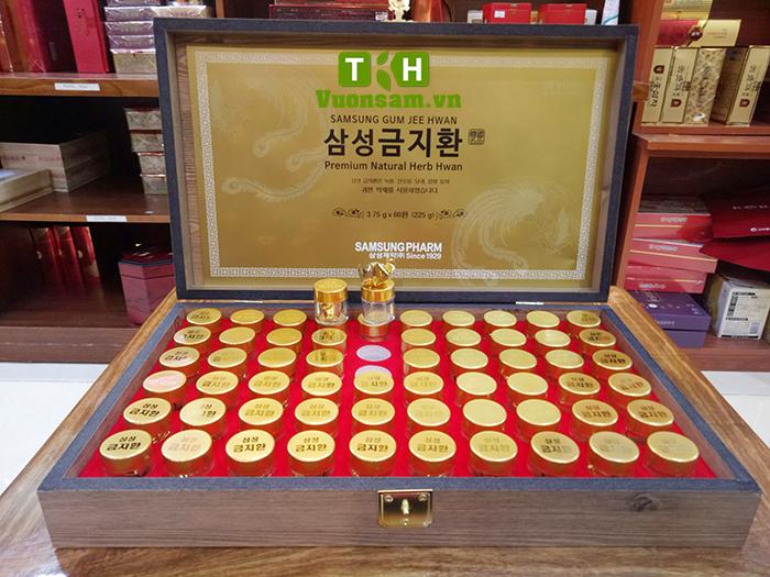 An Cung SAMSUNG Hàn Quốc hộp gỗ 60 viên * 3.75g GUM JEE HWAN